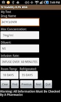 Screenshot of Quick IV Database