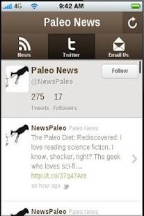 Paleo News- screenshot thumbnail