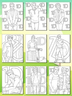 One Direction Coloring