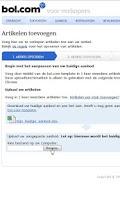 Screenshot of bol.com verkopers