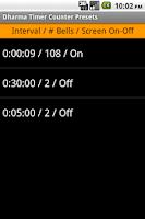 Screenshot of Dharma Timer Counter