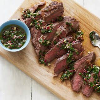 Grilled Steaks with Chimichurri.