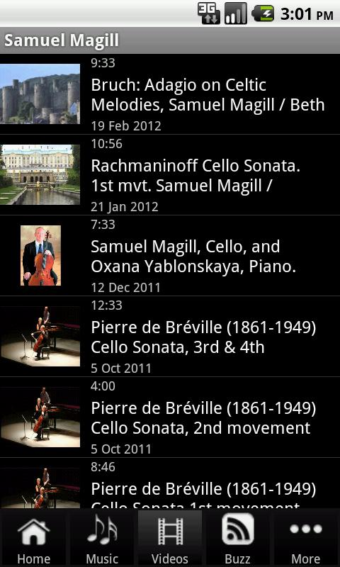 Samuel Magill, Cellist - screenshot