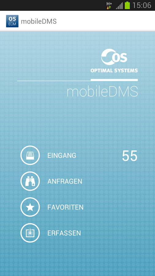 OS|mobileDMS for OS|ECM - screenshot