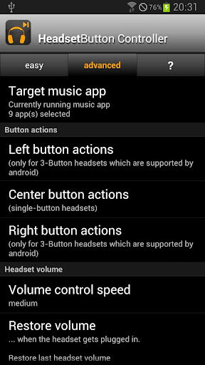 Headset Button Controller v6.8 APK