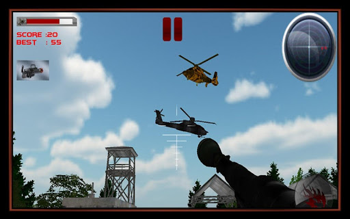 Helicopter Enemy Base Attack
