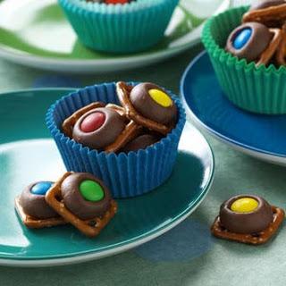 Chocolate Pretzel Rings.