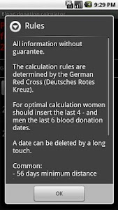 Blood donation calculator screenshot 3