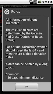Blood donation calculator - screenshot thumbnail