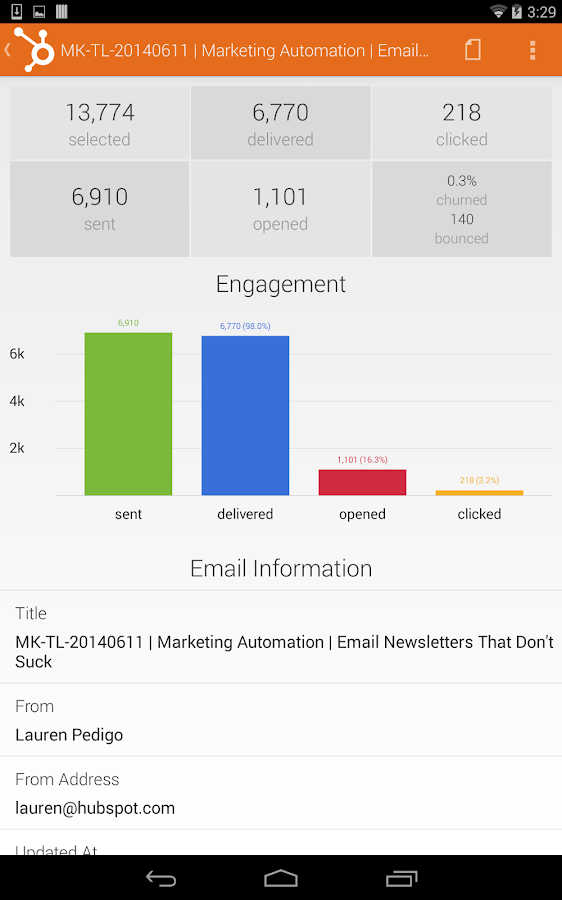 Marketing by HubSpot- screenshot