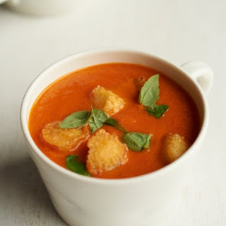 Creamy Tomato Soup with Gluten-Free Croutons
