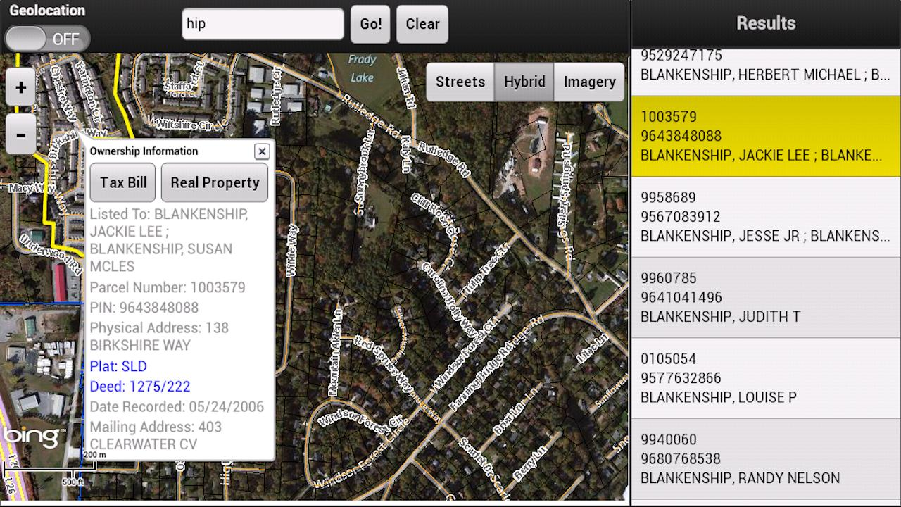 Henderson County Parcel Viewer - screenshot