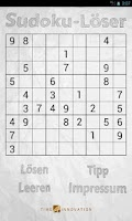 Screenshot of Sudoku-Löser