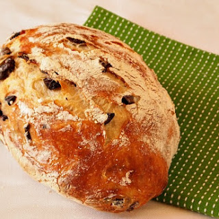 No Knead Olive Bread.