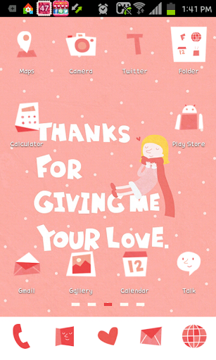 Thanks go launcher theme