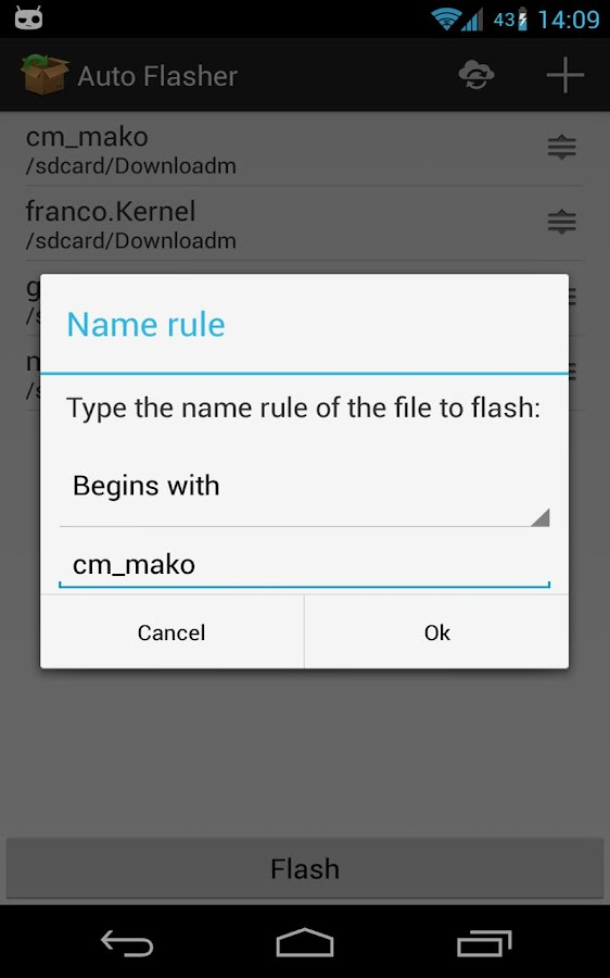 Auto Flasher ROM flash utility - screenshot