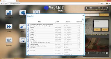 Screenshot of SkyNet