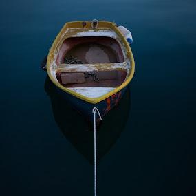 All alone by Ivona Bezmalinovic - Transportation Boats ( old, sea, boat )