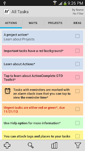 ActionComplete GTD Toolkit- screenshot thumbnail