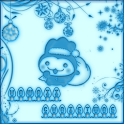 Kawaii Christmas Go Launcher icon