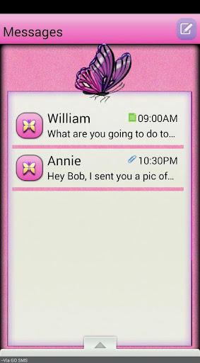 PixiePink GO SMS THEME