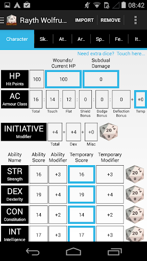 Hero Lab Character Sheet Lite