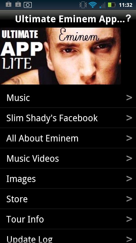 Ultimate Eminem App LITE FREE - screenshot