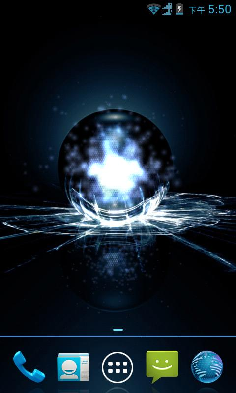 Cool Balck Crystal light lwp - screenshot
