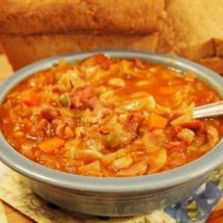 Slow Cooker Fifteen Bean Soup.
