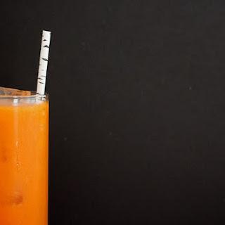 Carrot Orange Ginger Bourbon Cocktail.