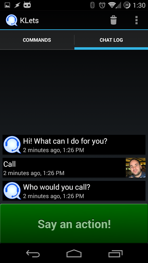 KLets - Voice control (Test) - screenshot