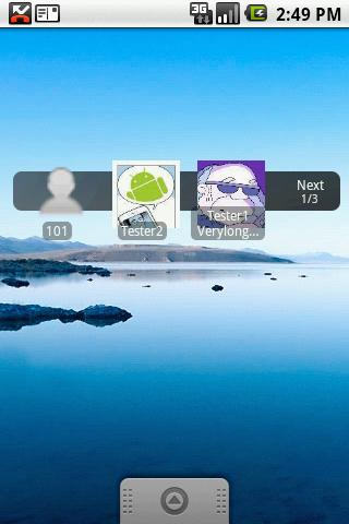 Recent Contacts Widget - screenshot