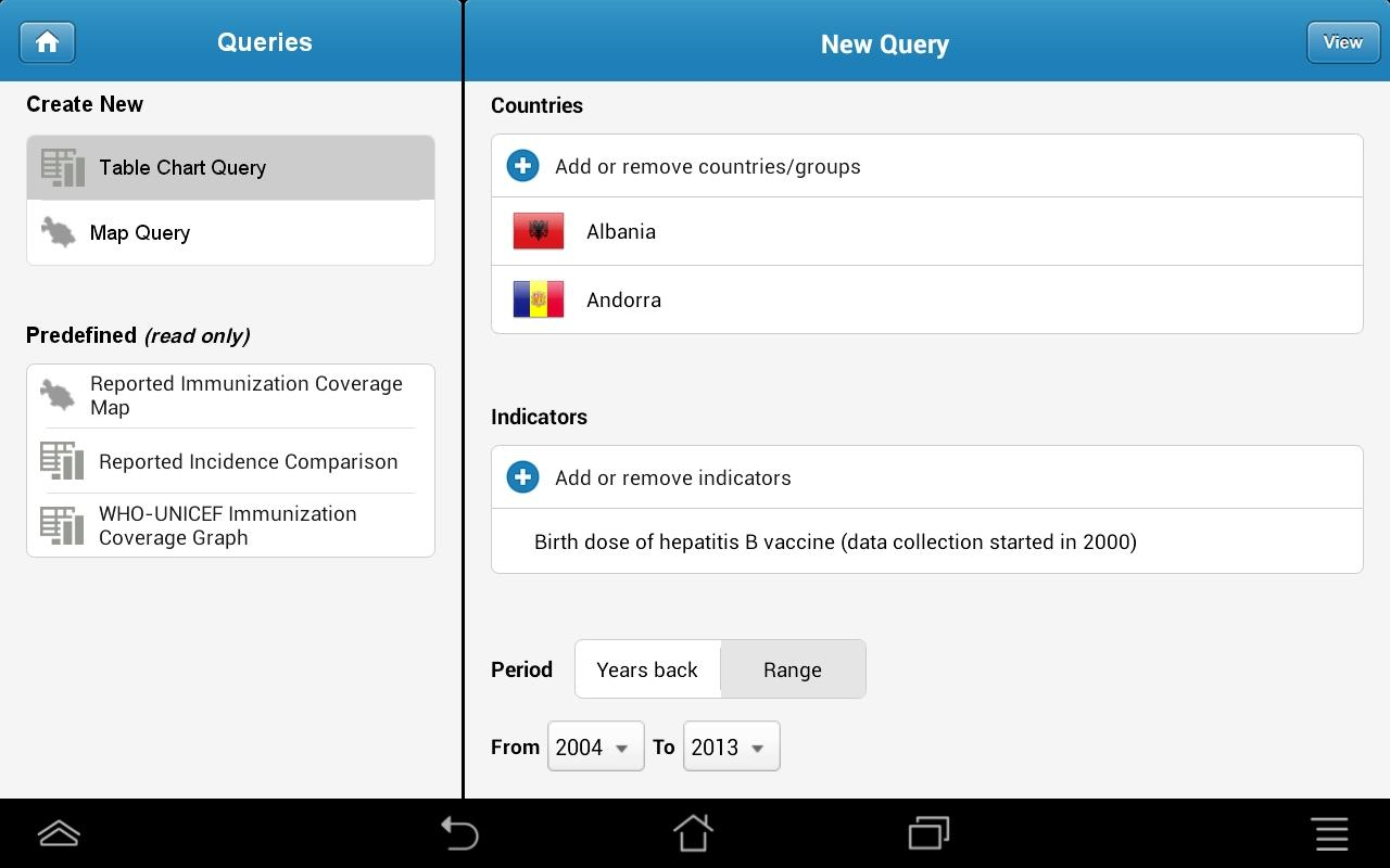 Immunization Summary - screenshot