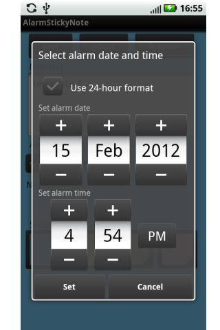 Alarm Sticky Note (reminder)- screenshot