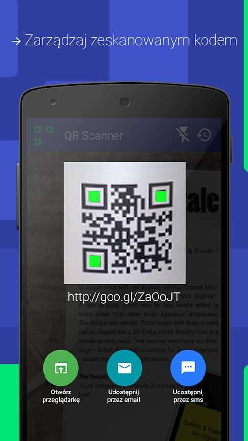 QR-code scanner - screenshot