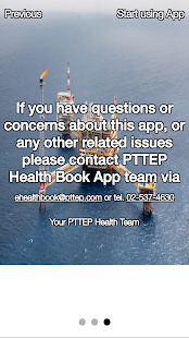 PTTEP Health Book Application - náhled