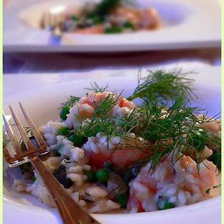 Shrimp Spring Risotto