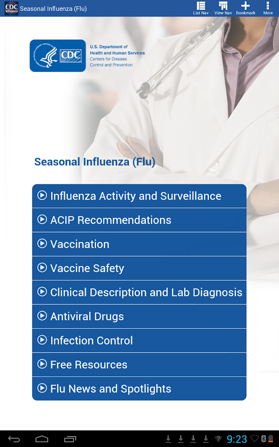 CDC Influenza (flu) - screenshot