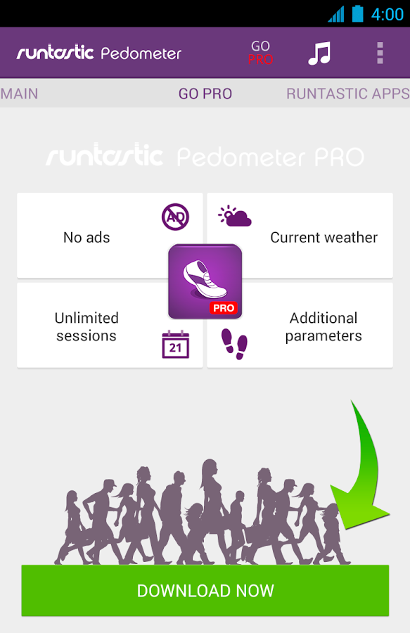 Runtastic Pedometer Step Counter- screenshot