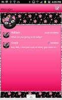 Screenshot of GO SMS - Kitty Flower Cat