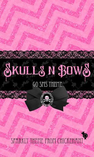 Skulls Bows Punk Theme Go SMS