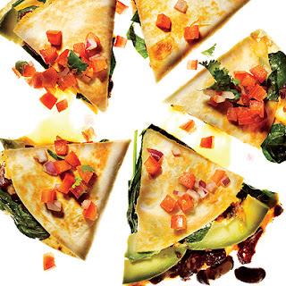 Vegetable Quesadillas with Fresh Salsa.