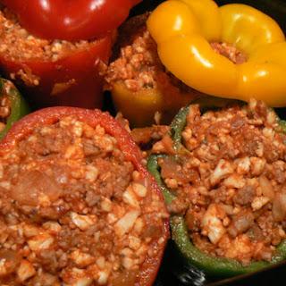 Paleo Sausage Stuffed Peppers.