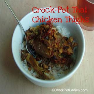Crock-Pot Thai Chicken Thighs ~ Peanut Free