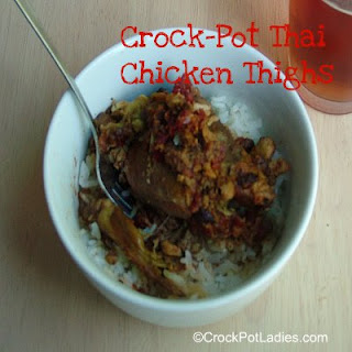 Crock-Pot Thai Chicken Thighs ~ Peanut Free.