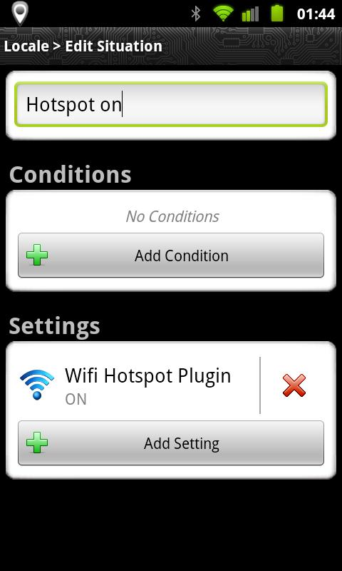 Locale Wifi Hotspot Plug-in - screenshot