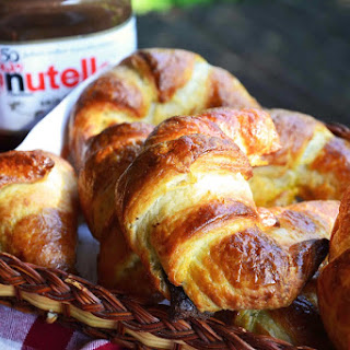 Nutella filled Croissants.