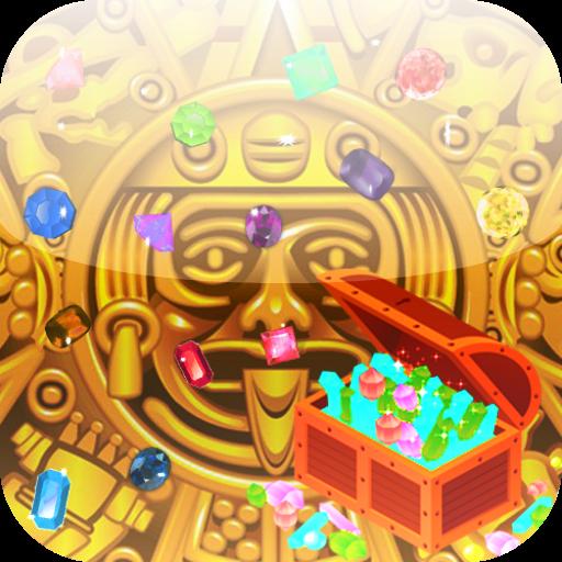 解谜のJewel Mayan Treasures LOGO-記事Game