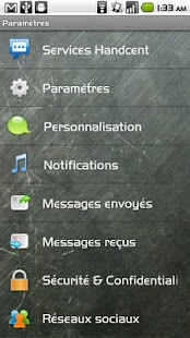 Handcent SMS French Language P- screenshot thumbnail