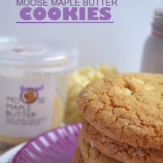 White Chocolate Chip Moose Maple Butter Cookies
